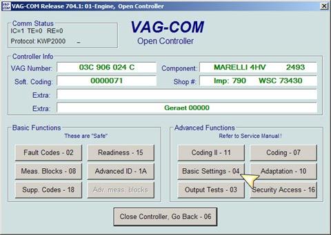 VAG Блог: Audi, Volkswagen, Skoda, Seat, Porsche: Базовые установки